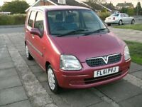 2001 VAUXHALL AGILI 1.2 ESTATE RED 12 MONTHH M.O.T,