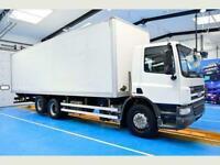 DAF TRUCKS CF75.310 Box Van, Euro 5, Ad Blue, 6x2 rearlift axle,
