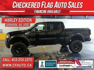 2007 Ford F150 4x4 HARLEY EDITION-S/ROOF-6 IN LIFT-BIG TIRES