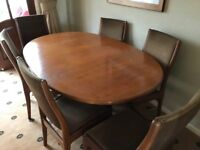 G Plan Dining Table & 6 Chairs