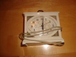 Vtg Electric Alarm Clock Westclox Dialite Light Up Dial Face 3