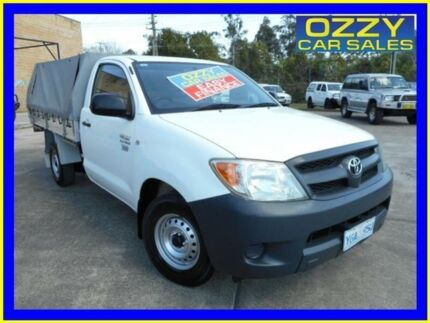 2008 Toyota Hilux TGN16R 08 Upgrade Workmate White 5 Speed Manual Cab Chassis Emu Plains Penrith Area Preview