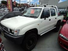 2000 Toyota Hilux KZN165R (4x4) White 5 Speed Manual 4x4 Dual Cab Pick-up Burwood Burwood Area Preview