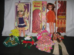 1970's Chrissy and Velvet Dolls Includes Boxes, Case & Fashions