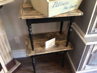 Hand Made Barn Board Tables Set of 2 - 2 sets available