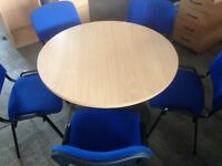 Small boardroom table and chairs