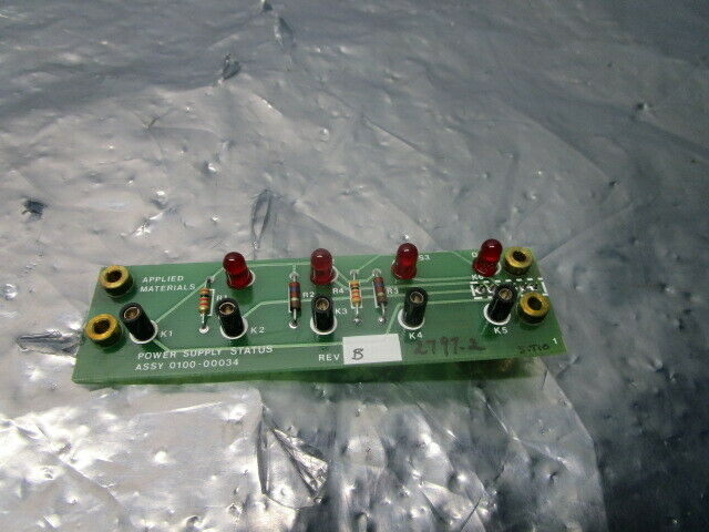 AMAT 0100-00034 Power Supply Status PCB, 101827
