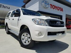 2010 Toyota Hilux KUN26R MY11 Upgrade SR (4x4) White 4 Speed Automatic Dual Cab Pick-up Greenway Tuggeranong Preview