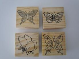 Large butterfly stamps