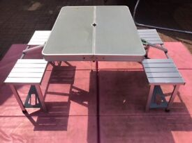 Camping table picnic table