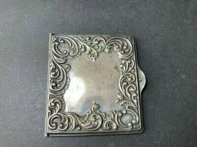 19 c Victorian Sterling Silver Repousse Chatelaine Stamp Holder Case Box Locket