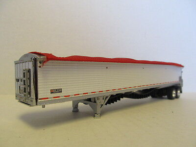 DCP 1/64 SCALE 50' WILSON BELT TRAILER  WHITE  (CUSTOM MADE INTO A TANDEM AXLE)