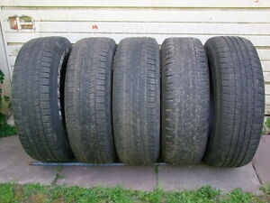 4 OR 5-265/70R17 GOODYEAR ALL SEASON TIRES WILL SELL SINGLES