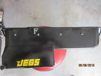 new jegs sbc oil pan for 2 peice rear main seal pass. side. dips