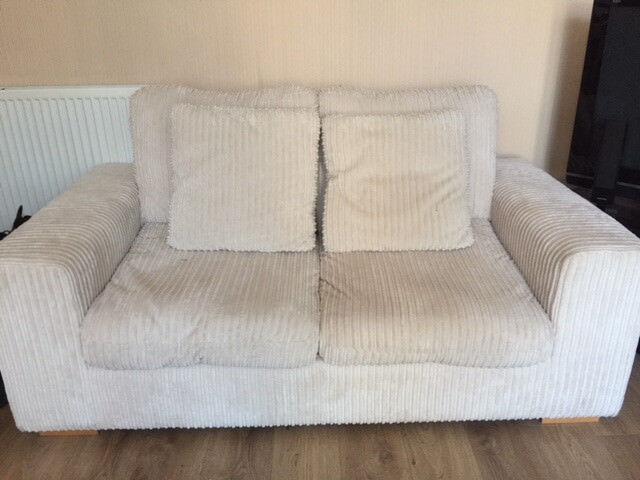 Peachy Two Off White Cord Fabric Sofas In Burnside Glasgow Gumtree Machost Co Dining Chair Design Ideas Machostcouk