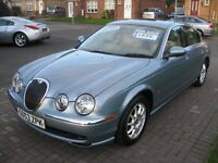 2003(53 Reg) Jaguar S-Type 2.5 V6 4dr Blue Saloon Petrol Rare manual One lady owner FSH
