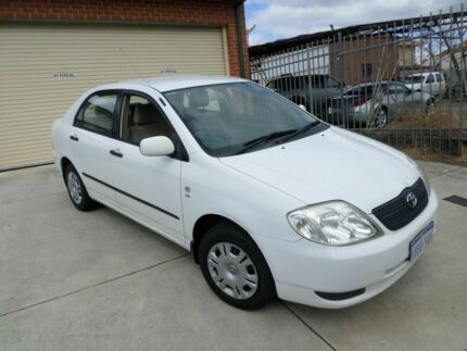 2001 Toyota Corolla AE112R Ascent White 4 Speed Automatic Sedan