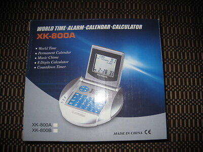 World Time, Alarm, Calendar, Calculator, Radio XK-800B