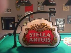 "Large ""Stella Artois"" light up bar sign"