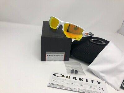 New Oakley Flak 2.0 XL Sunglasses OO9188-19 Polished White Fire Iridium (Oakley Fire Iridium Polarized)