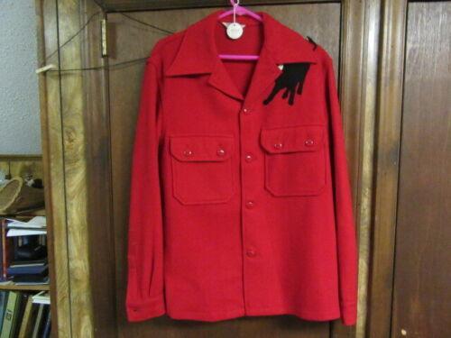 Boy Scout Red Wool Jacket, 1960-70