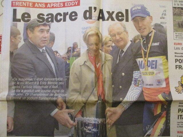 VELO : AXEL MERCKX CHAMPION DE BELGIQUE 26/06/2000