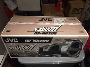 JVC RB-NB20b Kaboom: AM/FM, CD, Mp3, iPod, aux Guitar