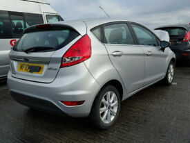 Ford Fiesta MK 8 Drivers Rear door in Silver 2010
