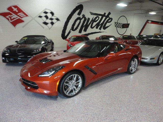 2015 orange corvette stingray z51 for sale saint marys ohio dealer. Black Bedroom Furniture Sets. Home Design Ideas