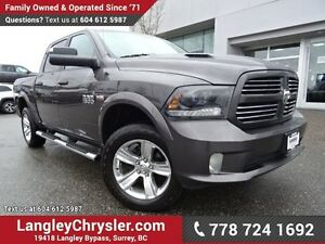 2015 RAM 1500 Sport W/ 4X4, LEATHER & NAVIGATION