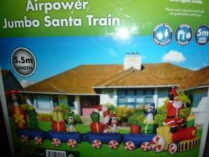 AIRPOWER JUMBO SANTA TRAIN BLOW UP GIANT 5.5 METERS Minchinbury Blacktown Area Preview