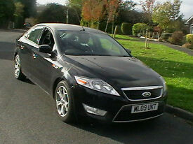 09 REG FORD MONDEO 1.8TDCi 125BHP 6 SPEED ZETEC 5 DOOR HATCHBACK IN BLACK