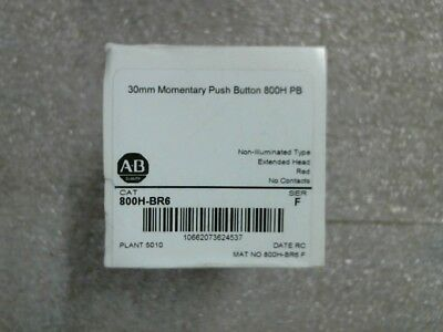 FACTORY SEALED Allen-Bradley 800H-BR6 Ser F Red Ext Head Momentary Pushbutton