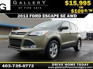 2013 Ford Escape SE AWD $109 bi-weekly APPLY NOW DRIVE NOW