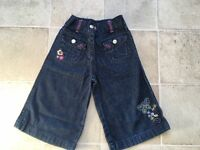 NEXT Girl's long shorts / cropped trousers age 2-3 years