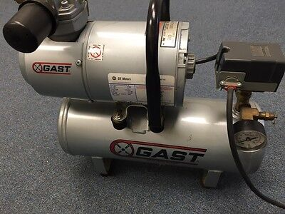 Gast Vacuum Compressor Pump 1hab-82t-m100x 115v 16hp Kingsley Hot Stamp