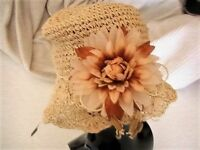 Ladies straw summer hat