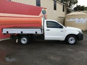 2013 Toyota Hilux TGN16R MY12 Workmate White 4 Speed Automatic 2D Cab Chassis Gosford Gosford Area Preview