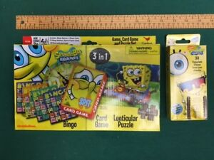 SpongeBob Game, Card Game and Puzzle (new in box)