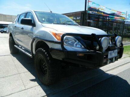 2012 Mazda BT-50 XT (4x4) Silver 6 Speed Manual Dual Cab Utility Williamstown North Hobsons Bay Area Preview