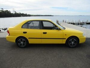 2002 Hyundai Accent LC GL Yellow 5 Speed Manual Hatchback Horsley Wollongong Area Preview