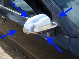 Audi A3 8P S3 Sportback 3 door ALUMINIUM ORIGINAL ELECTRIC HEATED WING MIRRORS
