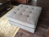 $160 OBO Grey Ottoman. Very comfortable & soft.18.5 inch high x