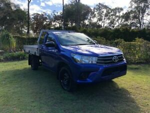 2017 Toyota Hilux TGN121R Workmate 4x2 Blue 5 Speed Manual Cab Chassis Capalaba Brisbane South East Preview