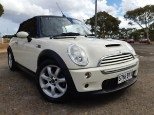 2006 Mini Cabrio R52 MY05 Cooper S White 6 Speed Manual Convertible Gepps Cross Port Adelaide Area Preview