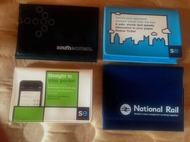Railway wallet ticket holders South Eastern National Rail