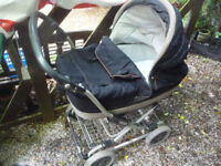 mamas and papas travel system with rain cover denim in very good condition