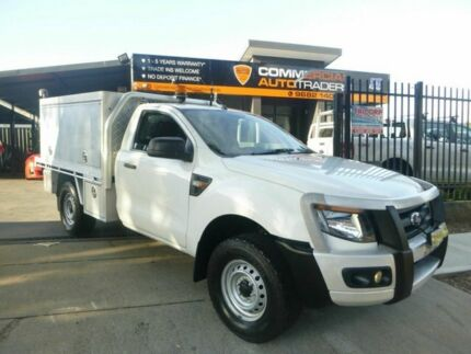 2012 Ford Ranger PX XL White 6 Speed Manual Cab Chassis Merrylands Parramatta Area Preview