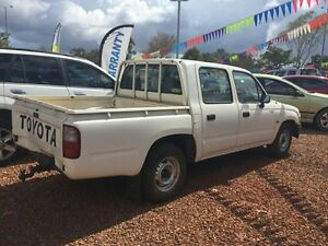 2003 Toyota Hilux 2x4 White 5 Speed Manual Dual Cab Hidden Valley Darwin City Preview