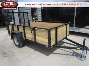 HIGH SIDED UTILITY TRAILER W/MORE FEATURES 5X10 BED SIZE